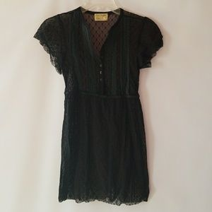 Free people LACE black blouse top size small